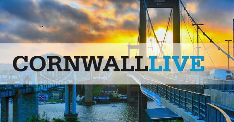 Cornwall Live written over an image of the Tamar Bridge